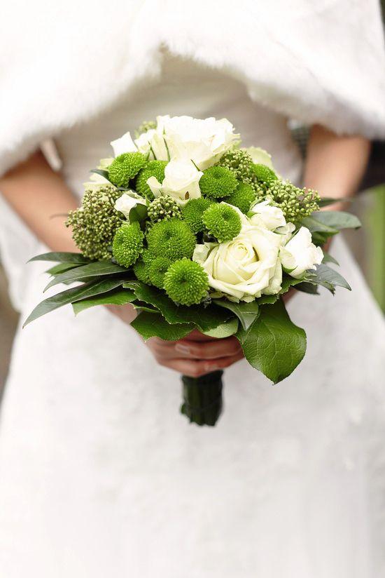 green bouquet  grüner Brautstrauß