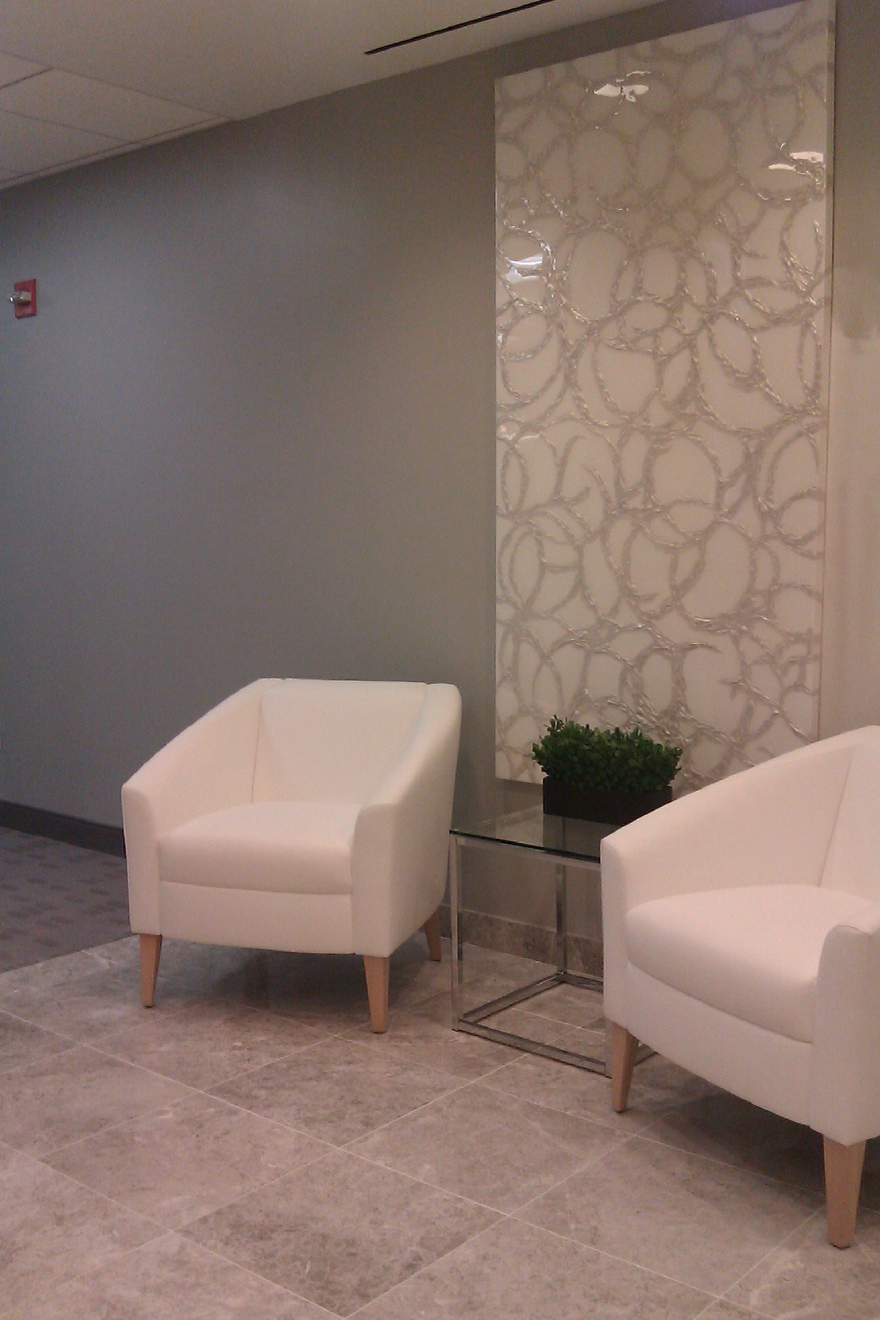 reception waiting area, New York city by Hunter Commercial Interiors