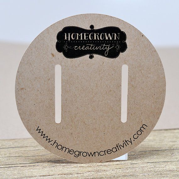 13 - Custom Circle Hair Bow Display Cards Packaging Personalized ...