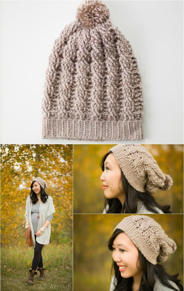 10 Free Crochet Patterns for Slouch Hat | Crochet slouchy beanie ...
