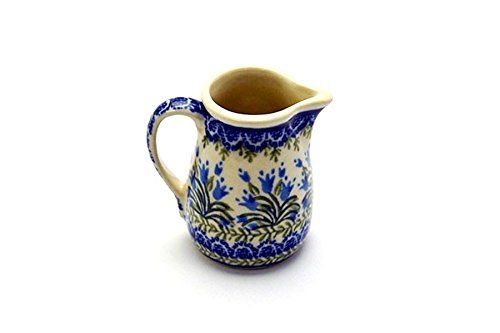 Red Berries and Daisies 0.25-Liter Polish Pottery Ceramika Boleslawiec 0205//282 Royal Blue Patterns 1-Cup Jacek Pitcher