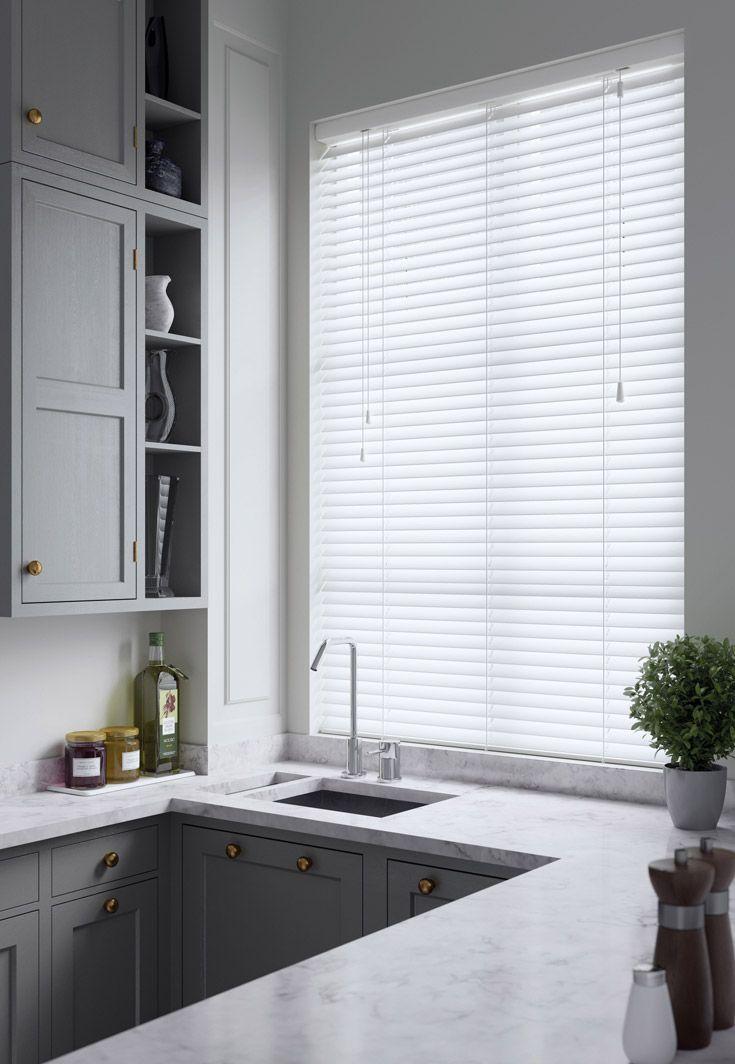 Dawn 25mm Gloss White T0001 Aluminium Venetian Wooden