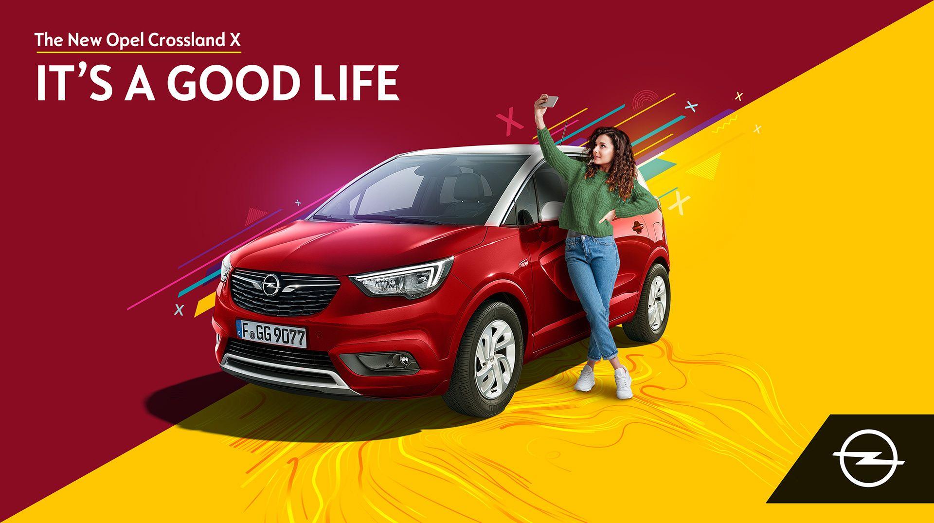 Opel Crossland X on Behance Car advertising design