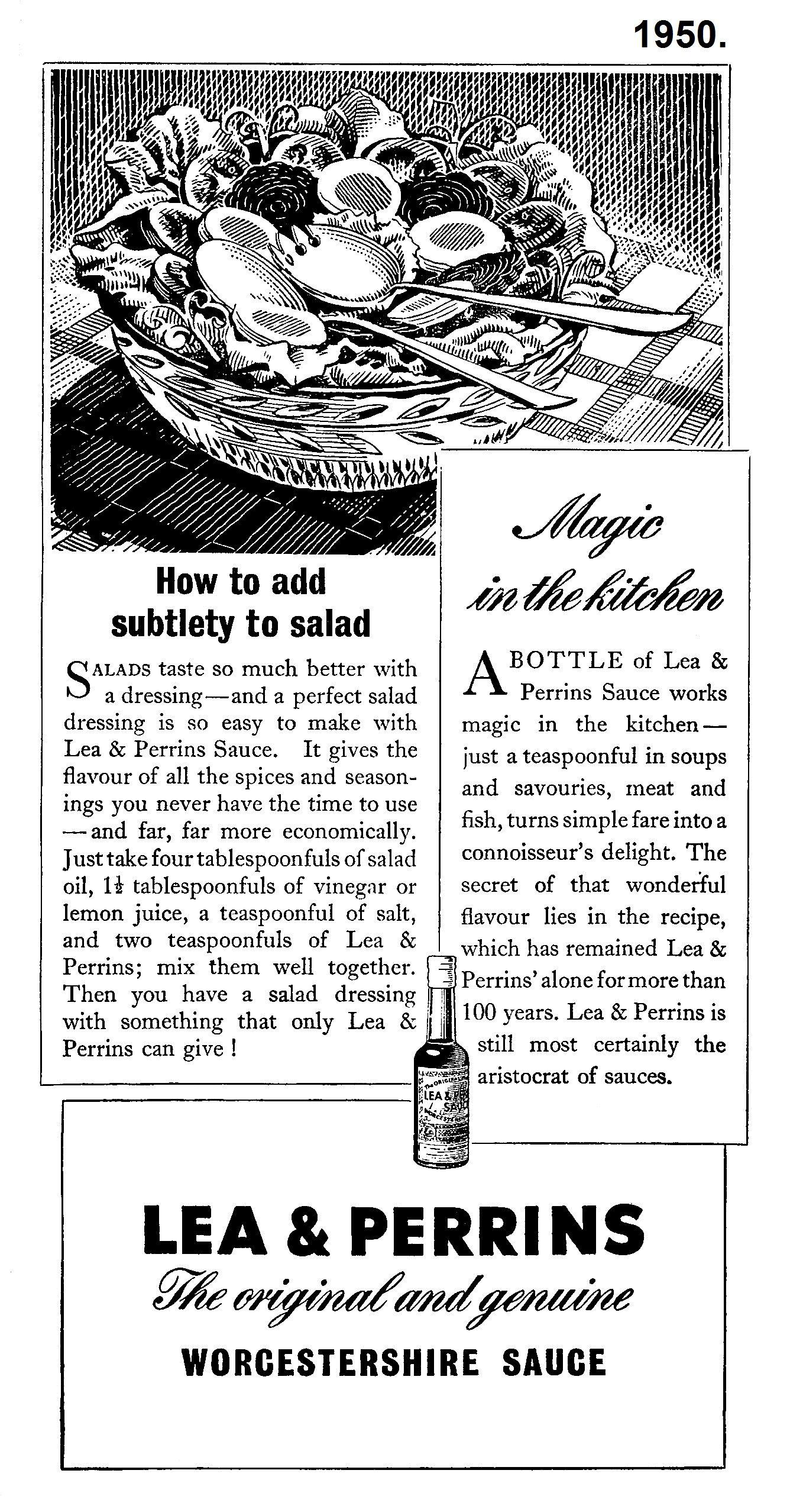 1950 lea perrins sauce advert lea perrins adverts