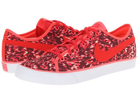 Womens Shoes Nike Primo Court Canvas Print Action Red/Hyper Punch/Summit White/Action Red