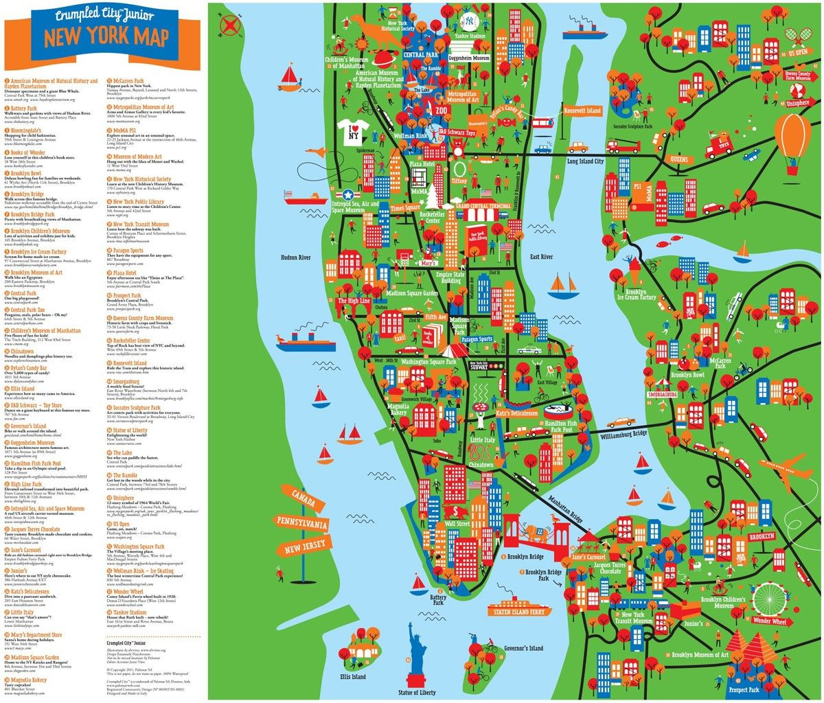 carte touristique new york NEW YORK (avec images) | Idée vacances été, Voyage new york, Idée
