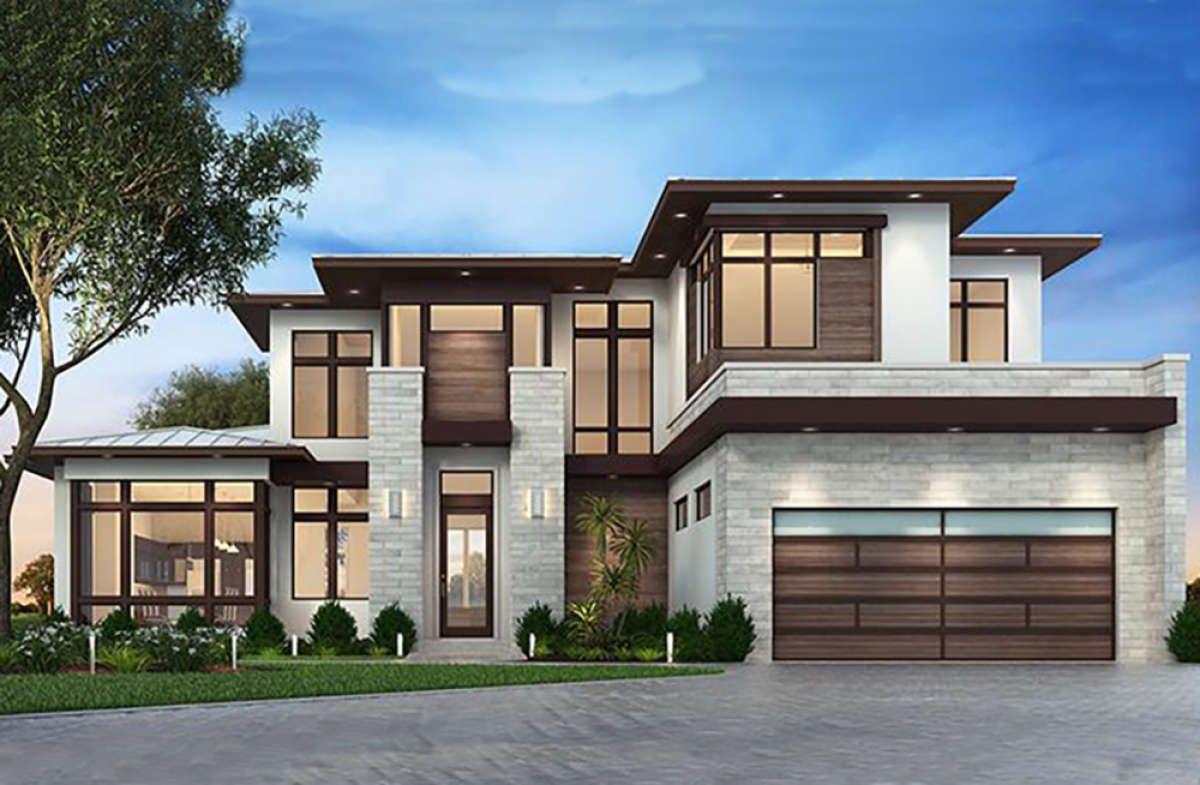 House Plan 207-00036 - Mid Century Modern Plan: 3,730 ...