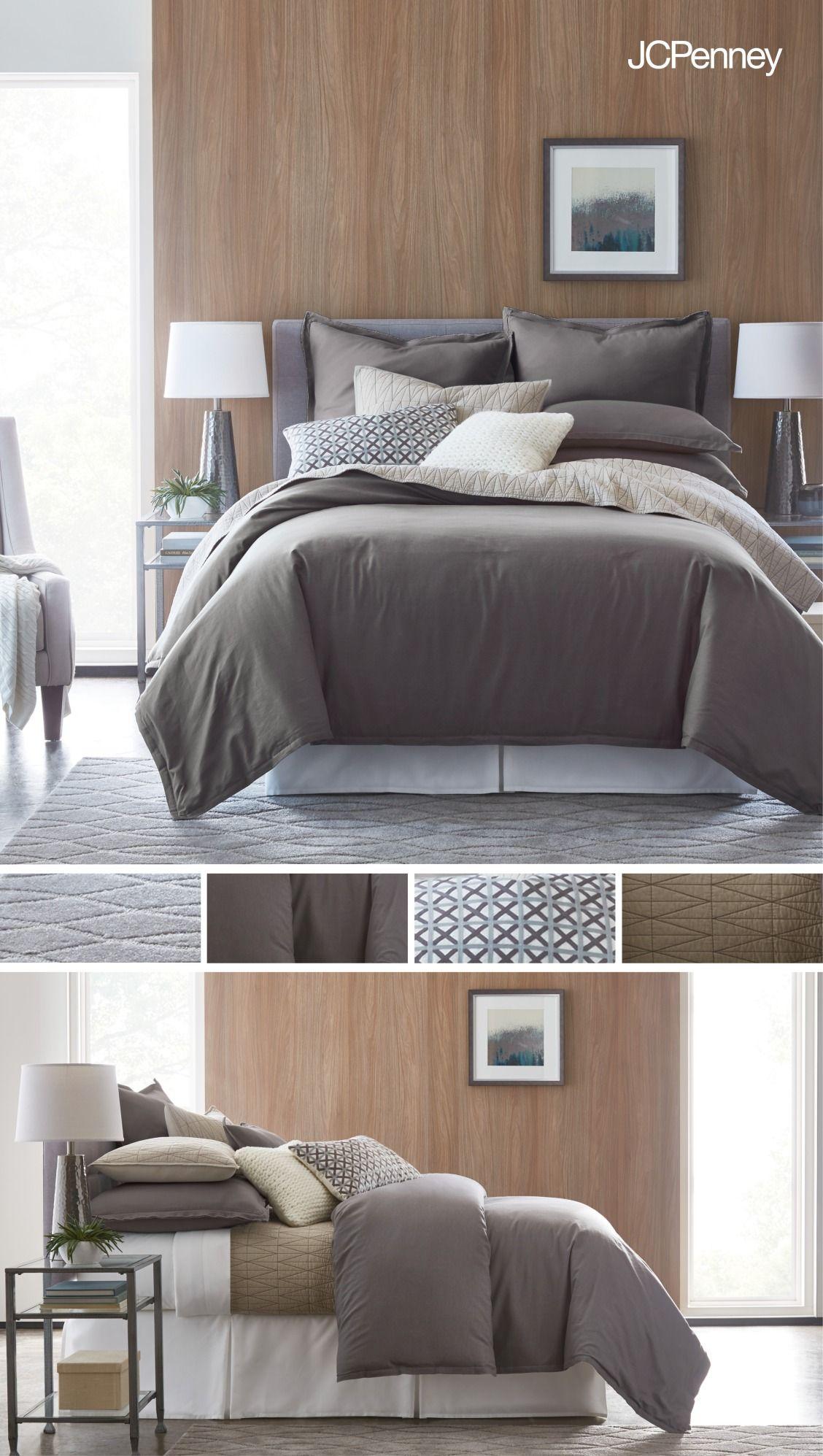 Studio caden linen blend 3 pc comforter set tables bedrooms comforter geotapseo Choice Image