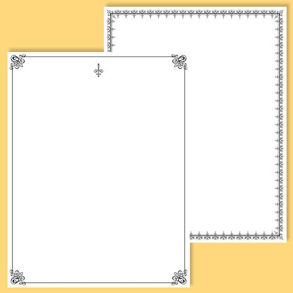 7 digital page border frames black 8 x 11 rectangle frame decorative retro french ornate borders