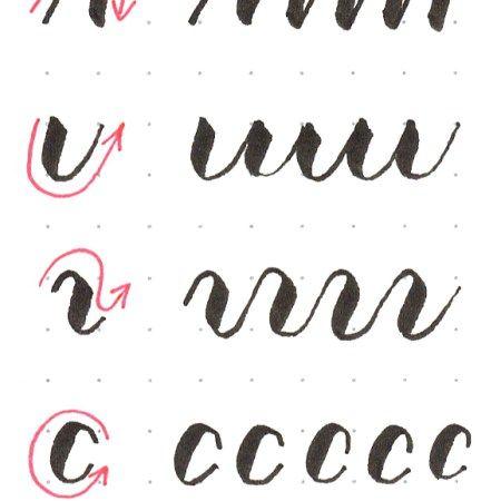 brush lettering basissttriche kalligraphie handschrift. Black Bedroom Furniture Sets. Home Design Ideas