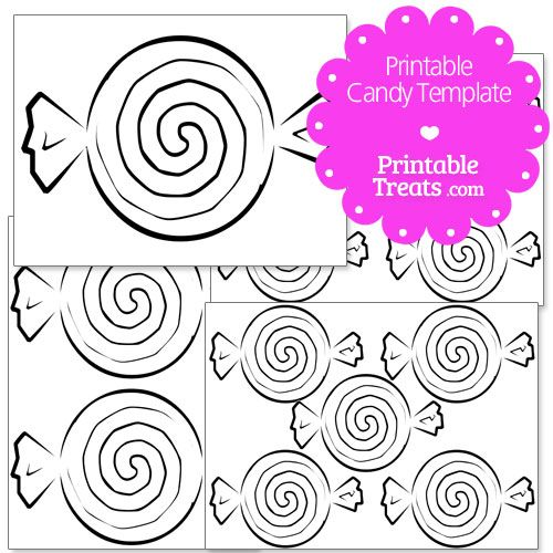 Printable candy templates from for Peppermint swirl craft show
