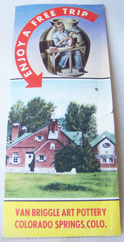 Vintage Travel Brochure Van Briggle Art Pottery Colorado Springs Colorado by RetrowareExchange on