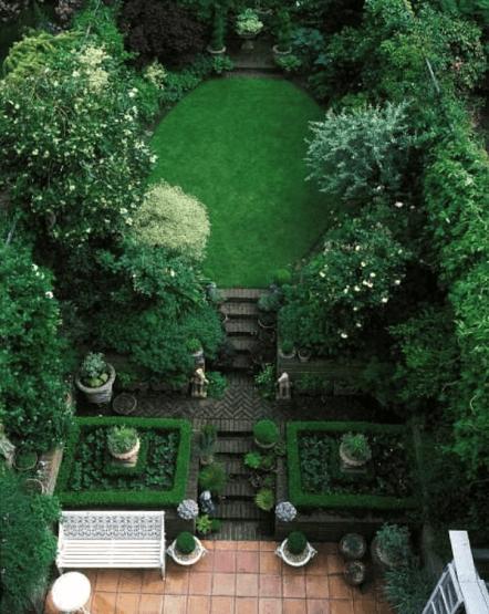 small townhouse courtyard english garden is part of English Courtyard garden - Interior Design, Furniture, Inspiring Ideas