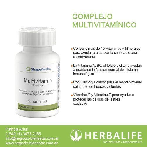 Complejo Multivitamínico Herbalife Contactame Www Negocio Bienestar Com Ar Herbalife Vitaminas Y Minerales Distribuidor De Herbalife