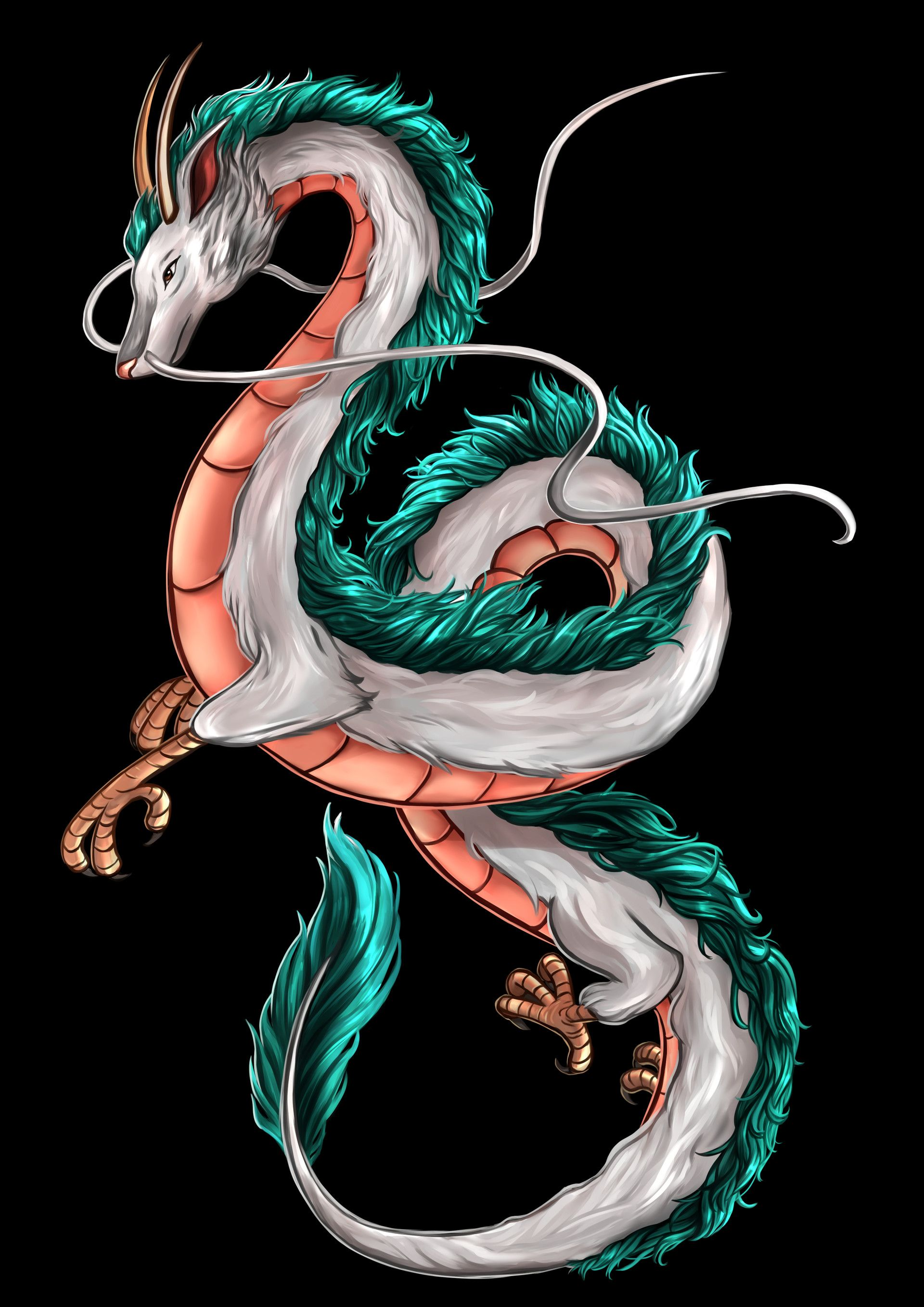 Haku By Kamilla Takacs Ghibli Tattoo Spirited Away Art Studio Ghibli Art