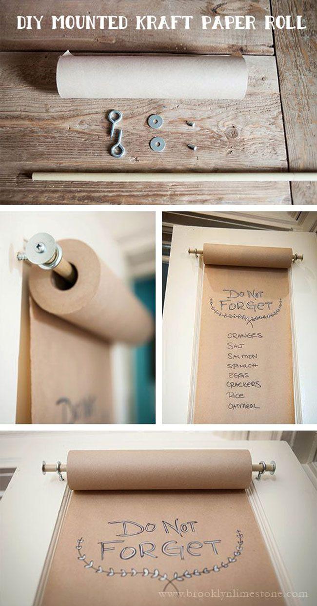 Diy Mounted Kraft Paper Roll Craft Room Home Diy Diy Paper