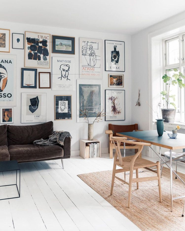 Photo of A White Danish Home Full Of Art and Scandinavian Design Classics