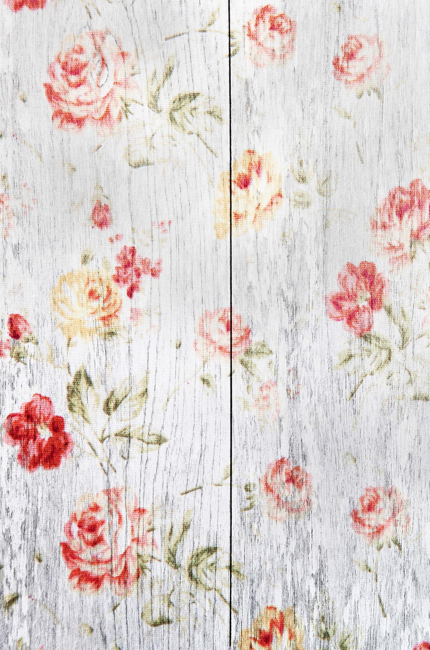 Flores en fondo madera fondos pinterest fondo madera for Papel mural tipo madera