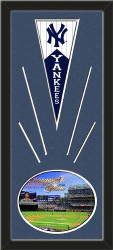 New York Yankees Wool Felt Mini Pennant & Yankee Stadium 2009 Inaugural Game Photo - Framed With Team Color Double Matting In A Quality Black Frame-Awesome & Beautiful-Must For A Championship Team Fan! Most NFL, MLB, NBA, Teams Available-Plz Mention In Gift Message If Need A different Team Art and More, Davenport, IA http://www.amazon.com/dp/B00I07OWQ8/ref=cm_sw_r_pi_dp_EEtEub1EGK2WH