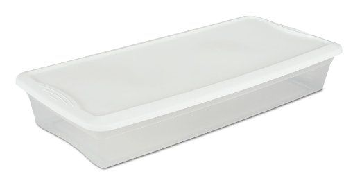 Sterilite Under Bed Storage Entrancing Sterilite 19608006 41Quart Underbed Box 6Pack White Lid With Design Decoration