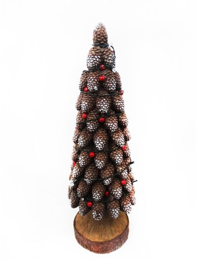 Pine Cone Christmas Tree Statue Design with Color Changing LED