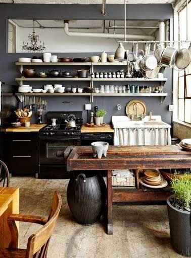 Un Rangement Cuisine Déco Même Sans Placards | Indoor, Interiors