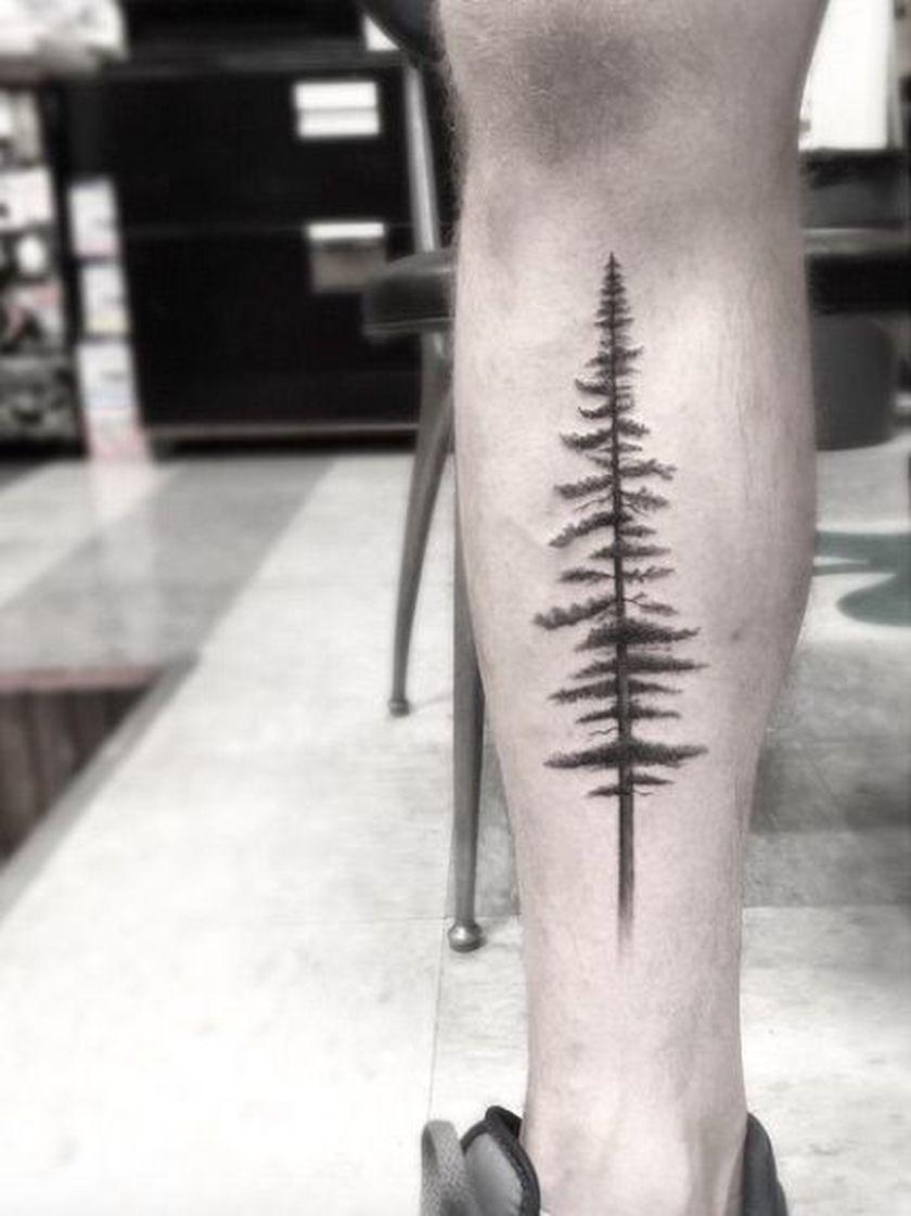 39+ Awesome Pine tree tattoo forearm image ideas