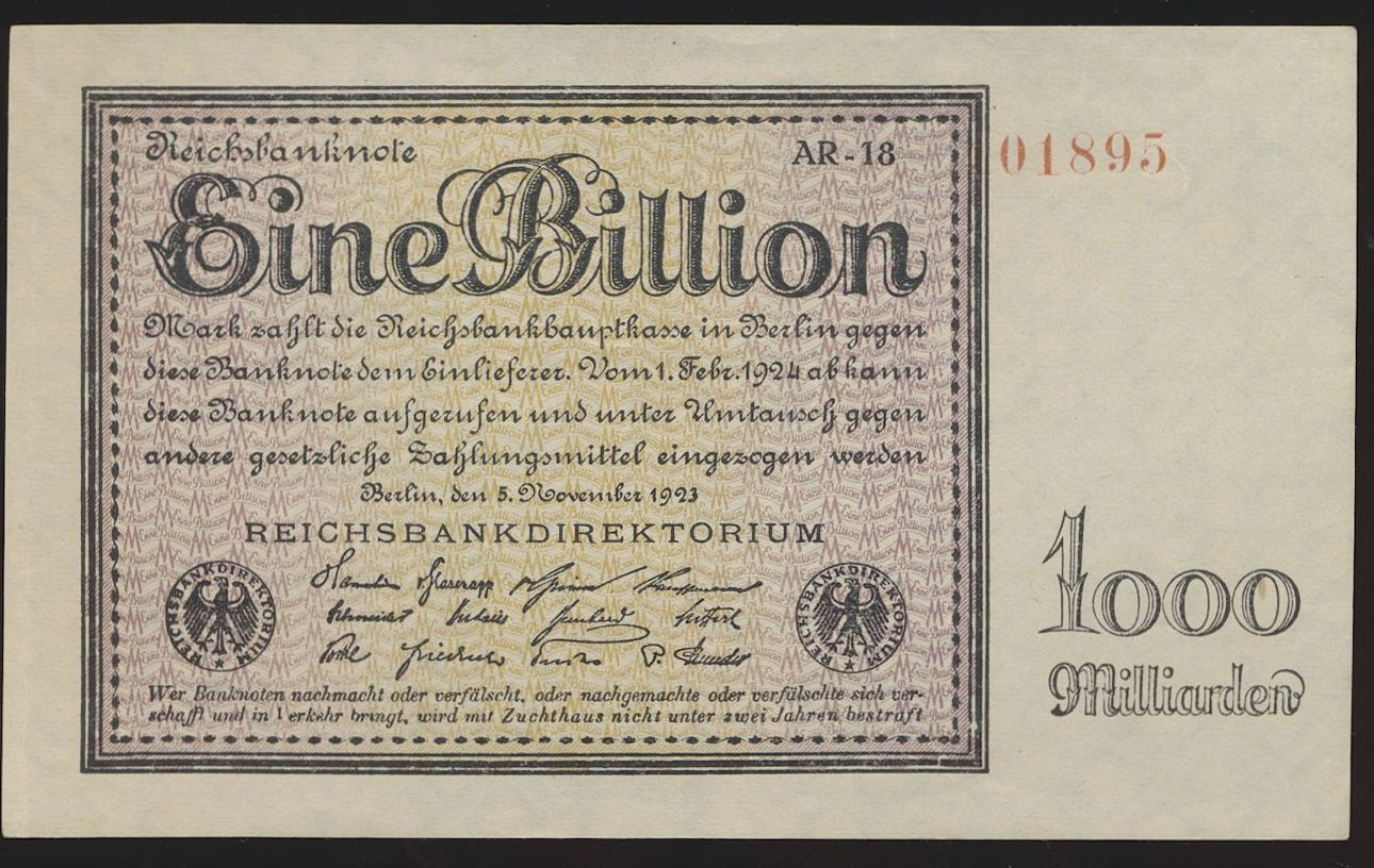 Germany 50 billionen mark 1924 Reproduction UNC