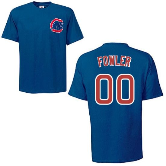 cheap for discount 64ee7 48cd2 Dexter Fowler Chicago Cubs Royal Player T-Shirt by Majestic ...