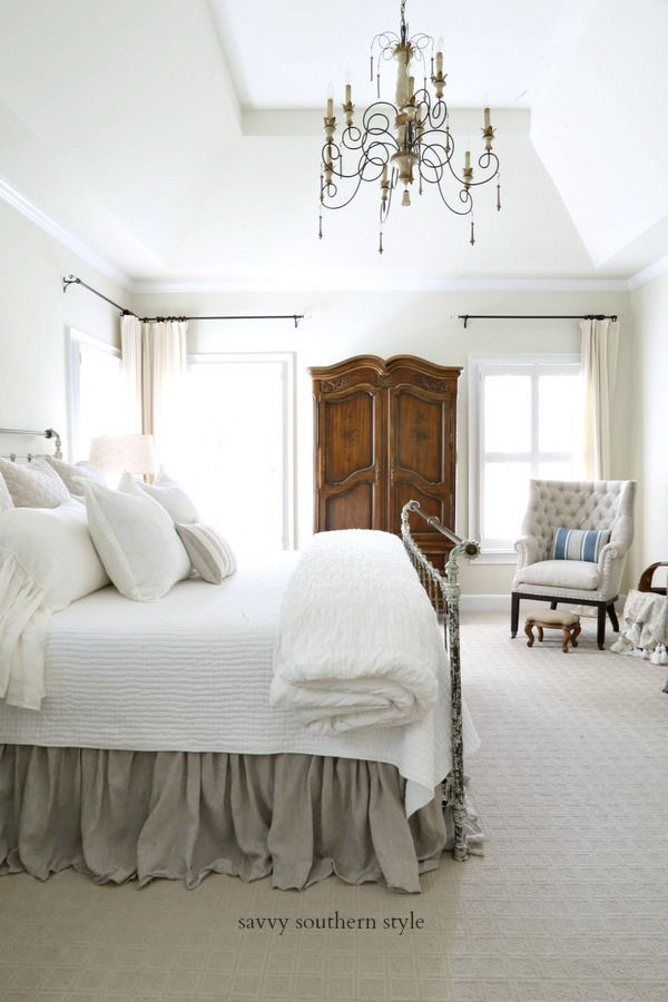 Photo of French Country Light and Airy Summer Bedroom