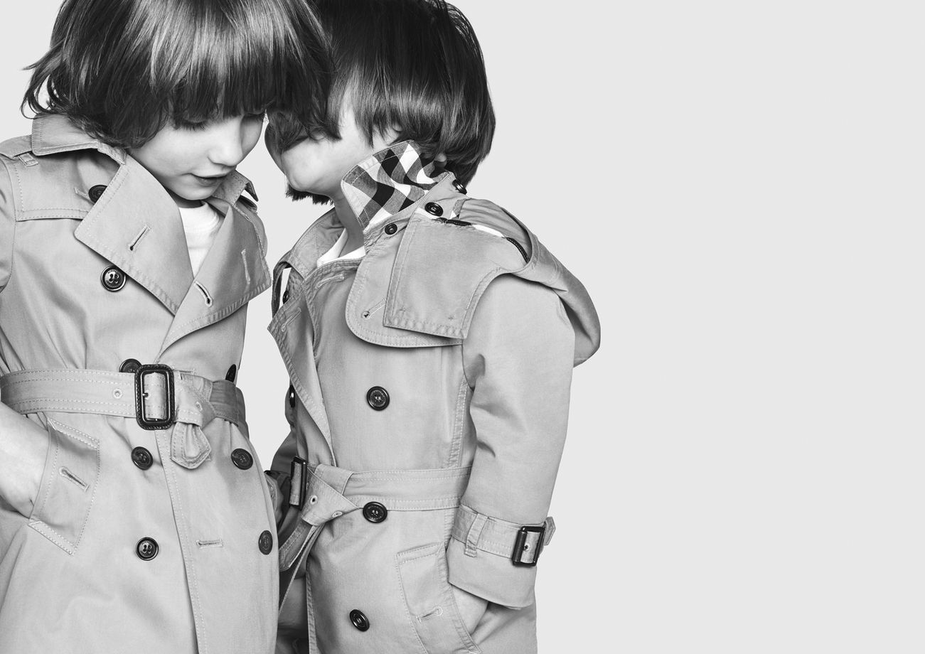 62098cf2853d Classic Burberry Kids Trench Coat from Fall Winter 2013 Collection.