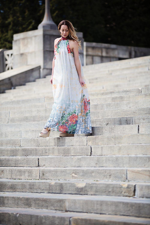 65362c25ba2 The Motherchic wearing Anthropologie maxi dress