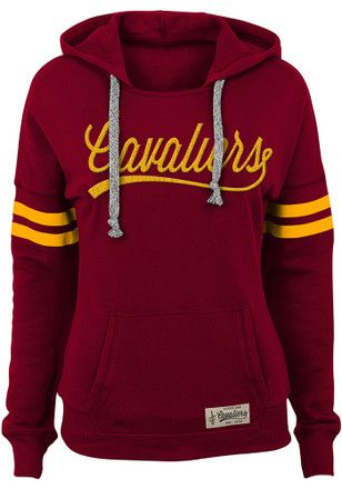 Cleveland Cavaliers Womens Red Varsity Pullover Hoodie  ace7e89053