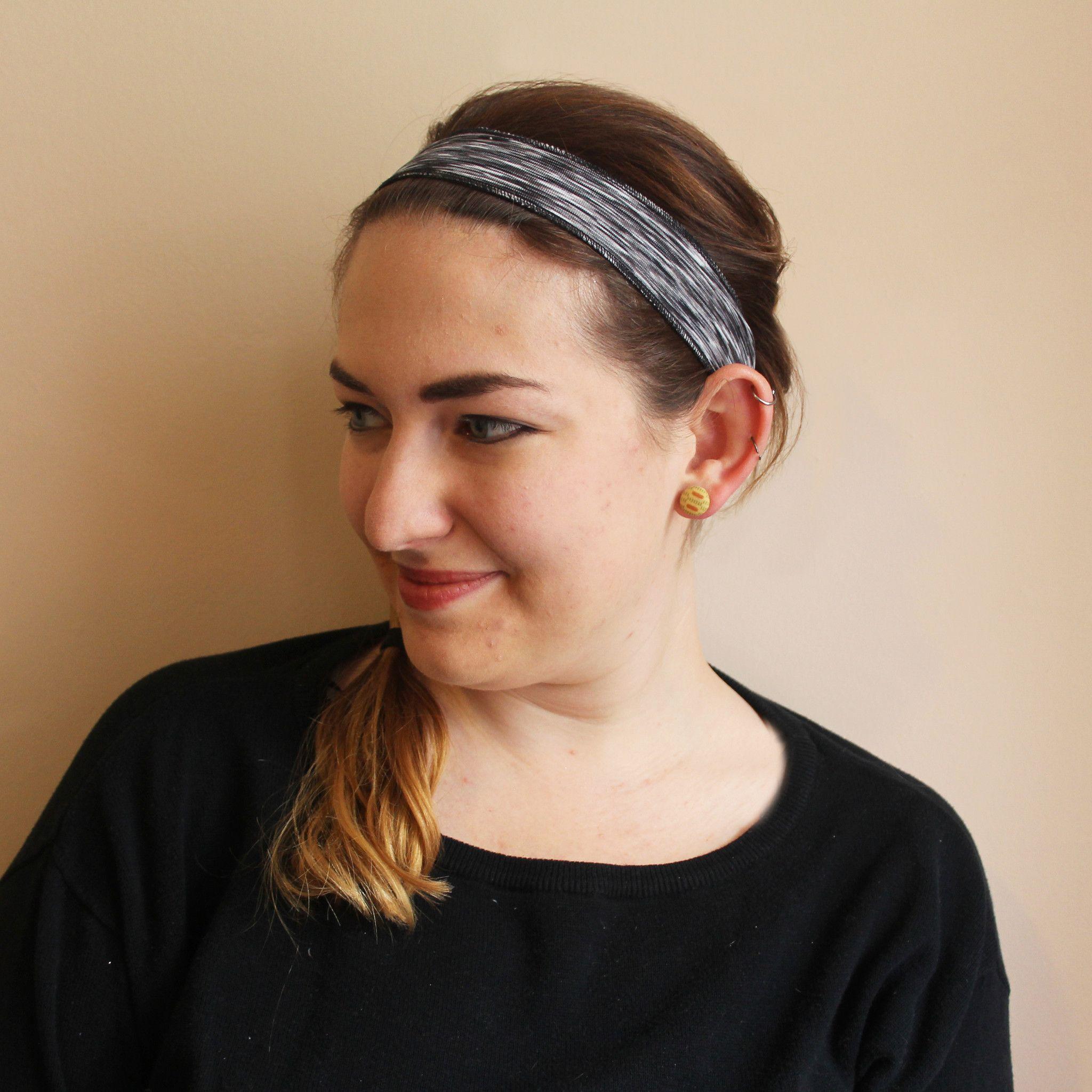 Black Heather Non-Slip Headband