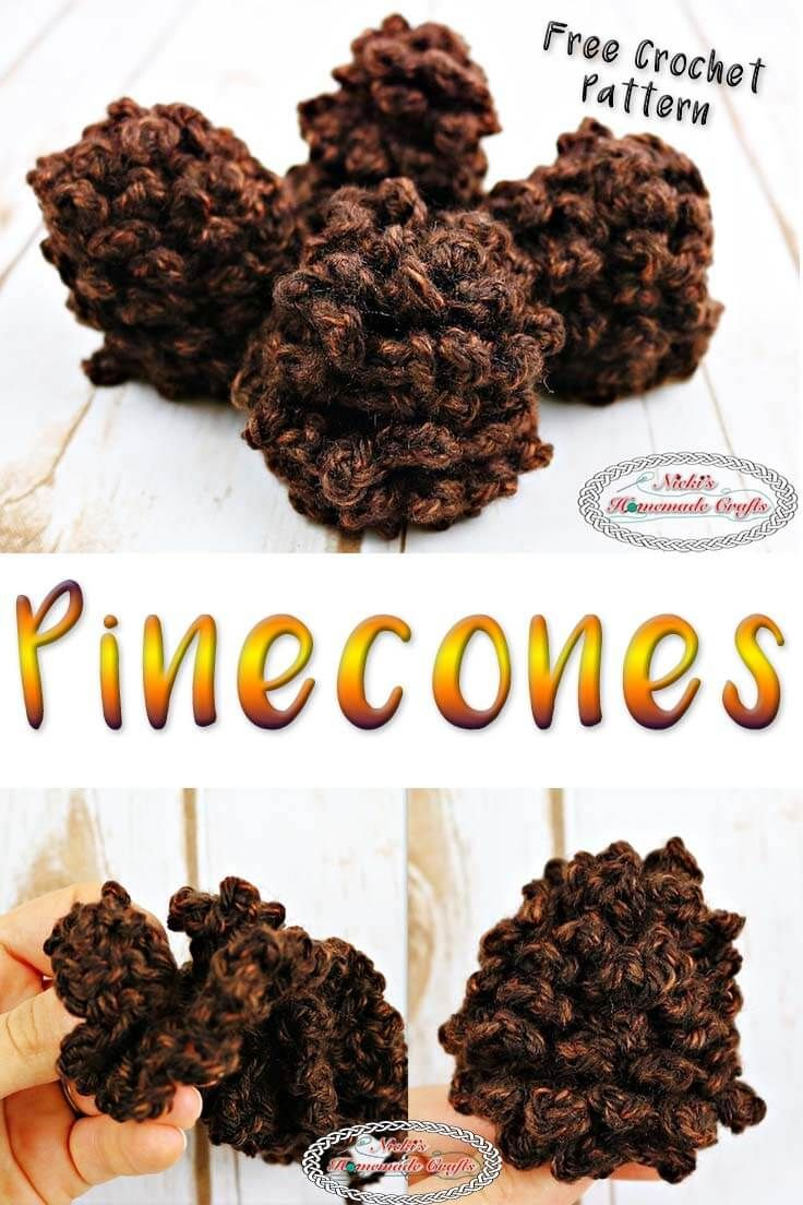 Photo of How to Crochet a Pinecone easily in about 5 Minutes – Free Pattern