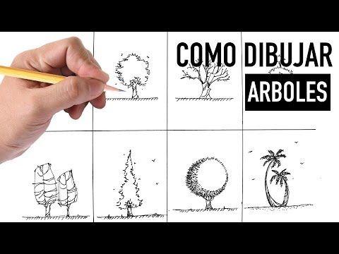 Como Dibujar Arboles A Mano Alzada Metodo Facil Youtube Como Dibujar Arboles Dibujos De Arboles Arbol A Lapiz