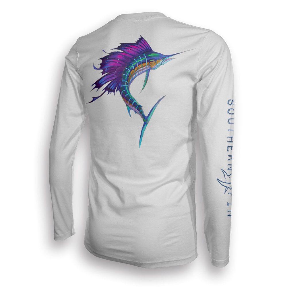 362bbf99 Performance Fishing Shirt Long Sleeve (Sailfish) | Fishing UV ...