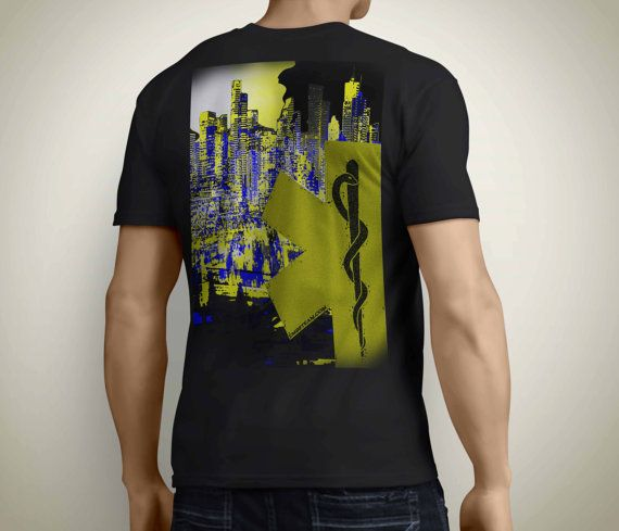 EMS T-Shirt  City Lights Day or Night EMT and by EMSSTEAM on Etsy