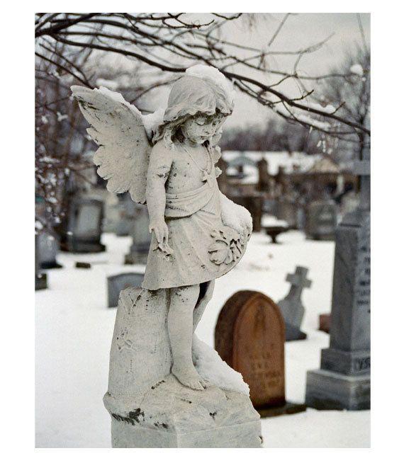 Gothic Winter Angel - Little Winter Angel - Silver Halide Film Metallic Photo