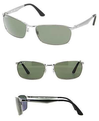 6998ac045e Sunglasses 155189  Ray-Ban Men S Rb3534 004 58 Gunmetal Frame Polarized  Green 59Mm