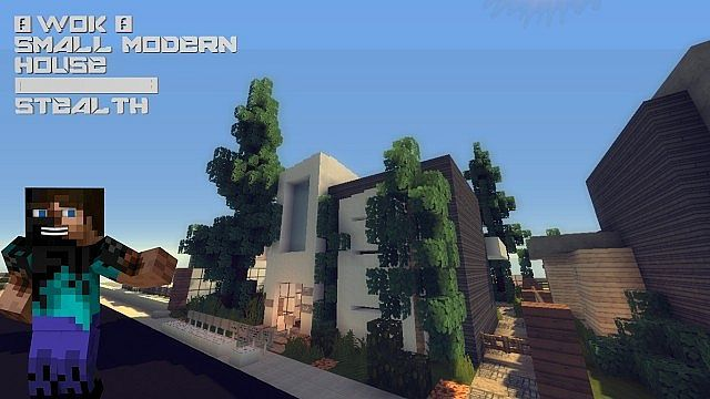 Stealth - A Small Modern House [WOK] Minecraft Project