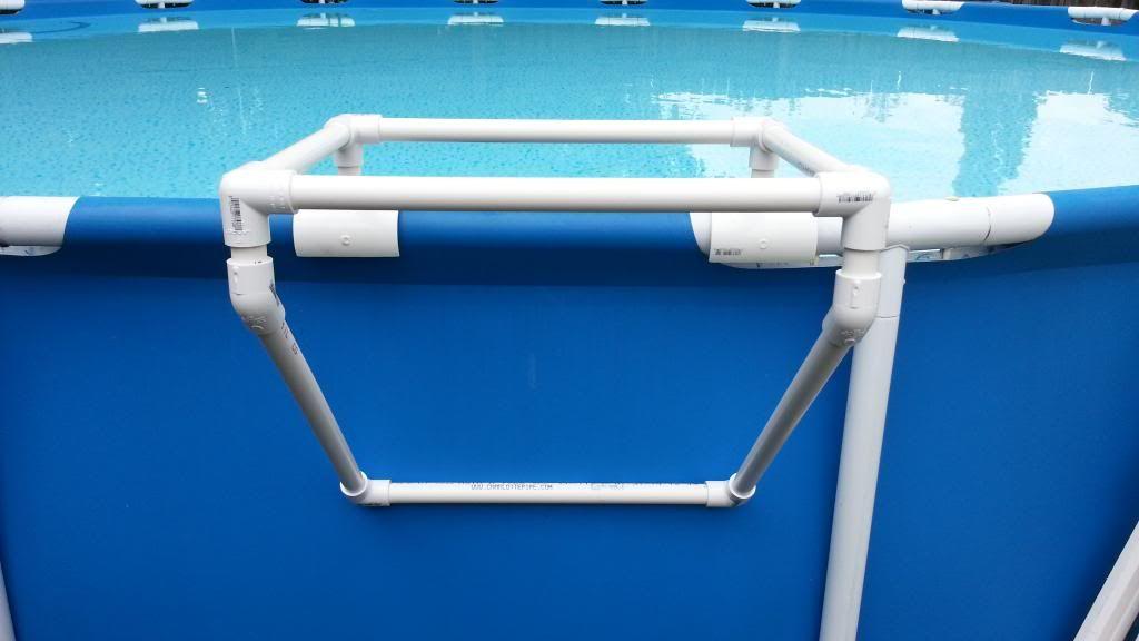 How to build pvc pool platform weather rainy today not - Above ground pool platform ...