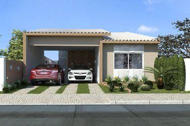 Fachadas de casas terreas com telhado aparente pesquisa for Casas modernas 120m2