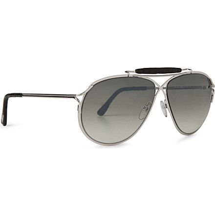 TOM FORD Alexander teardrop-frame sunglasses (Gold white | glasses ...