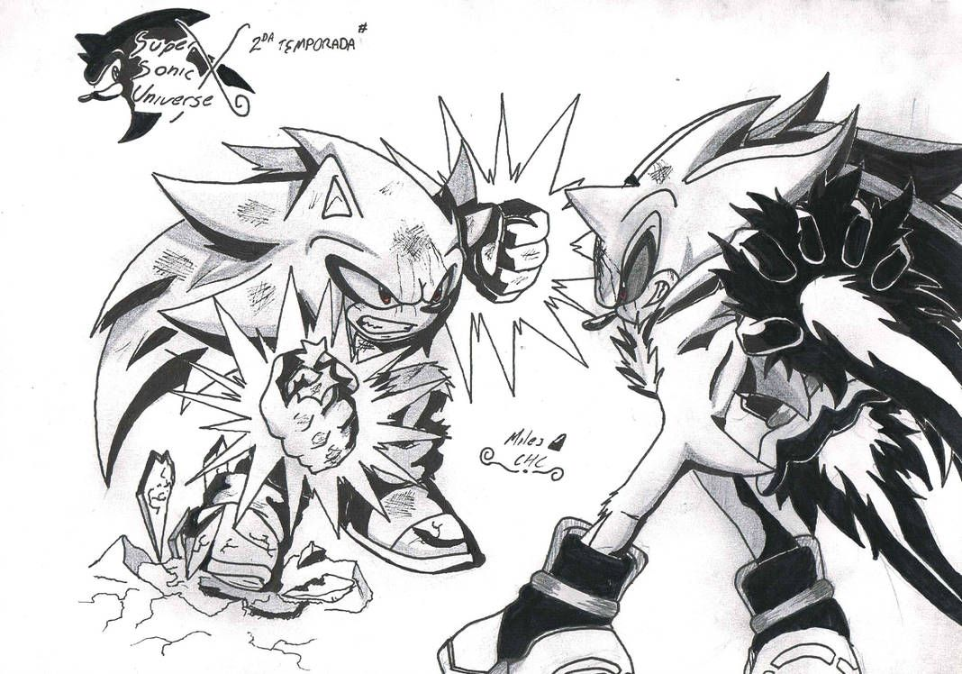 Super Sonic 3 Vs Super Shadow 3 By Miles Chc Sombra Personajes