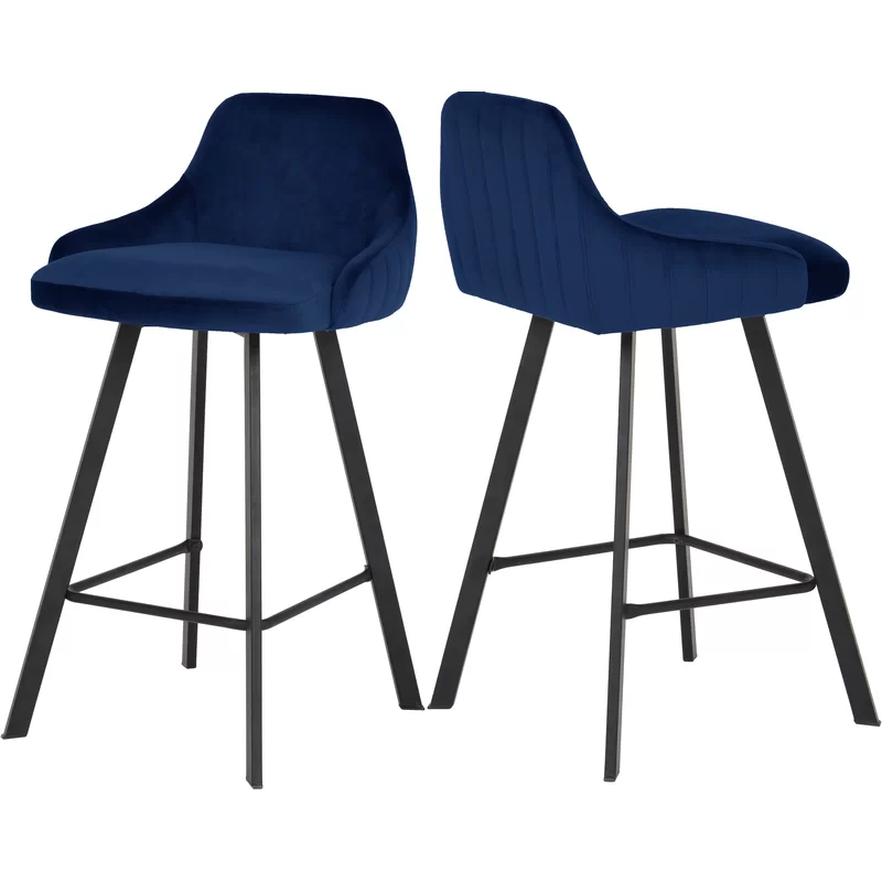 Mabton Velvet 26 Bar Stool Bar Stools Counter Stools Stool