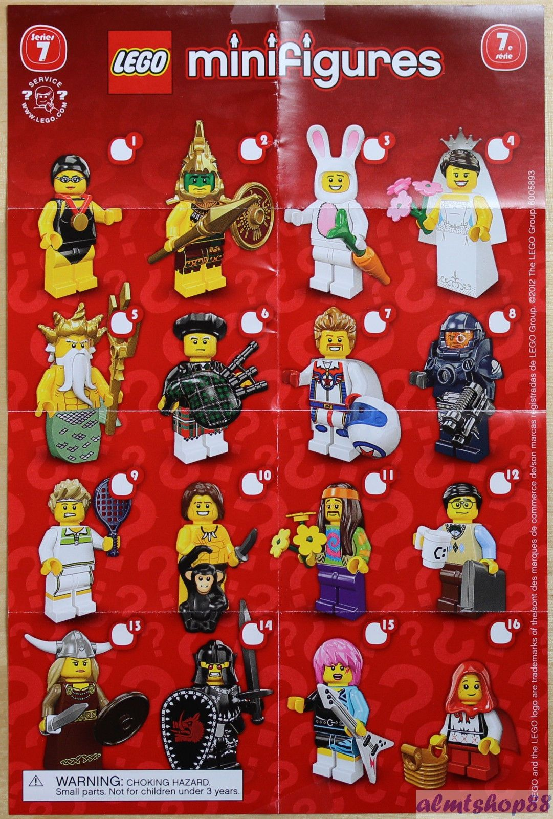 lego mini poster leaflet minifigures series 1 2 3 4 5 6 7 8 9 10 11 12 13 14 15 00 lego. Black Bedroom Furniture Sets. Home Design Ideas