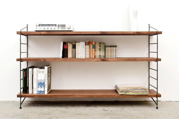 Regal Stehend Lowboard Sideboard Von Hartonholzundmetall Auf Etsy Cool Bookshelves Home Simple House