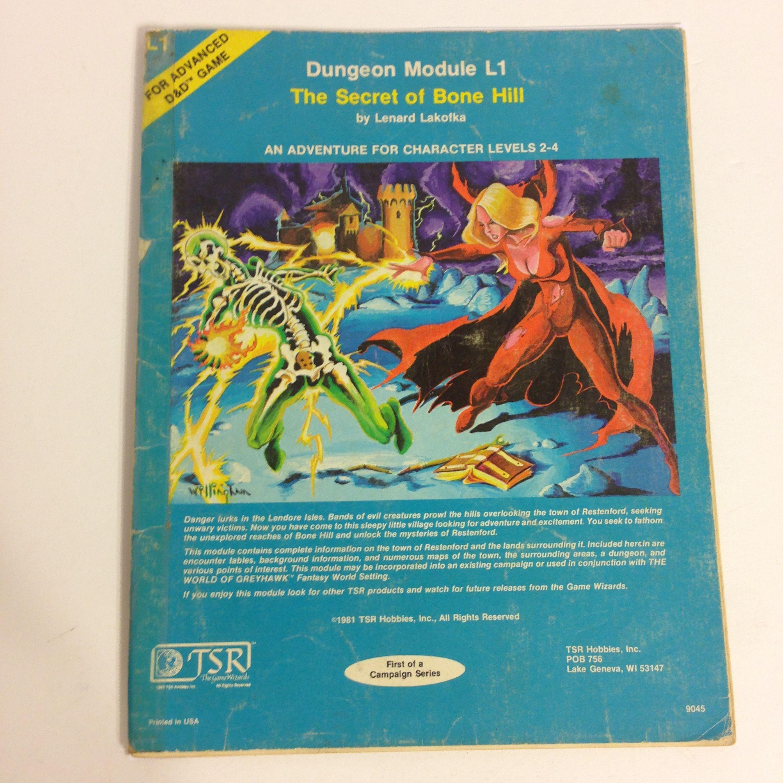 D D 1st 4th Editions Ad D L1 The Secret Of Bone Hill D D
