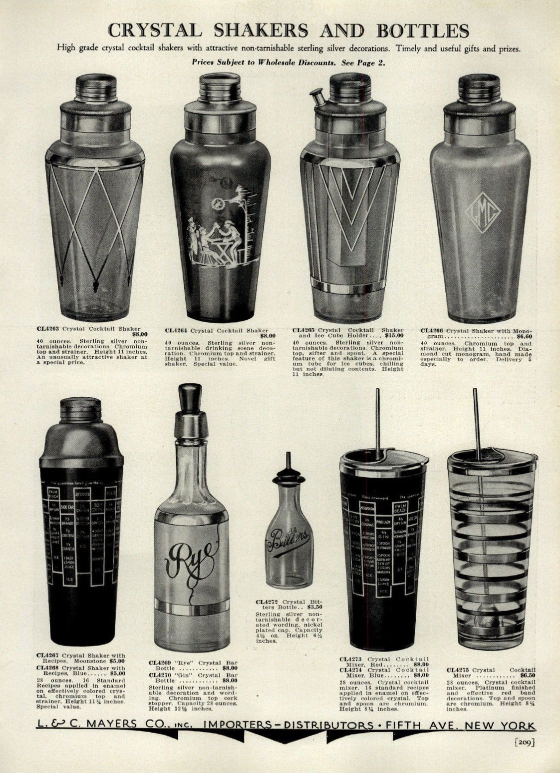 Vintage Crystal Cocktail Shakers Decanters Mixing Pitchers Bitters Bottles Print Ad So Cool Cocktail Shakers Cocktail Shaker Set Cocktails